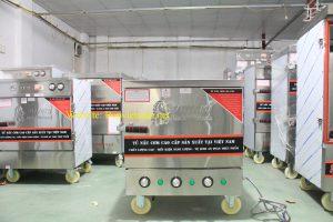 Tủ hấp cơm, tủ nấu cơm công nghiệp 4 khay điện (dùng chỉnh nhiệt)